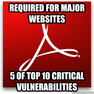 Required for major websites 5 of top 10 critical vulnerabilities