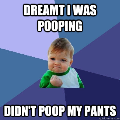 dreamt i was pooping didn't poop my pants - dreamt i was pooping didn't poop my pants  Success Kid