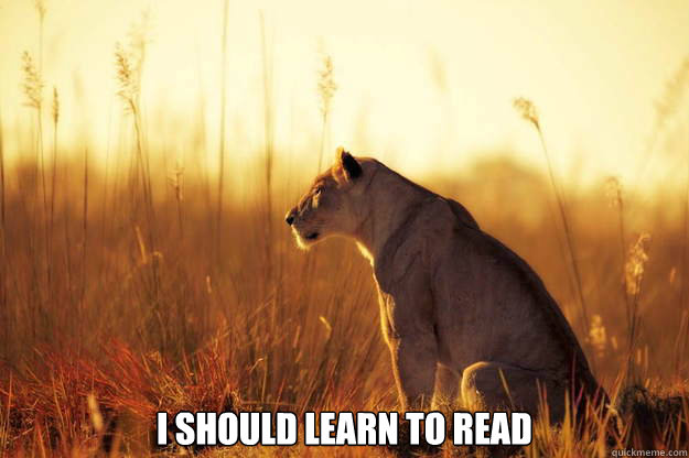 I should learn to read -  I should learn to read  Misc