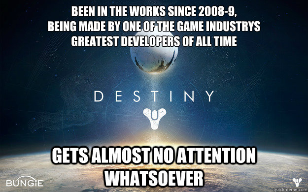 Been in the works since 2008-9,  being made by one of the game industrys greatest developers of all time gets almost no attention whatsoever