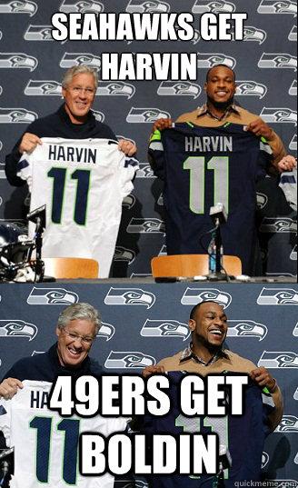 Anti 49ers Meme Seahawks get Harvin 49...