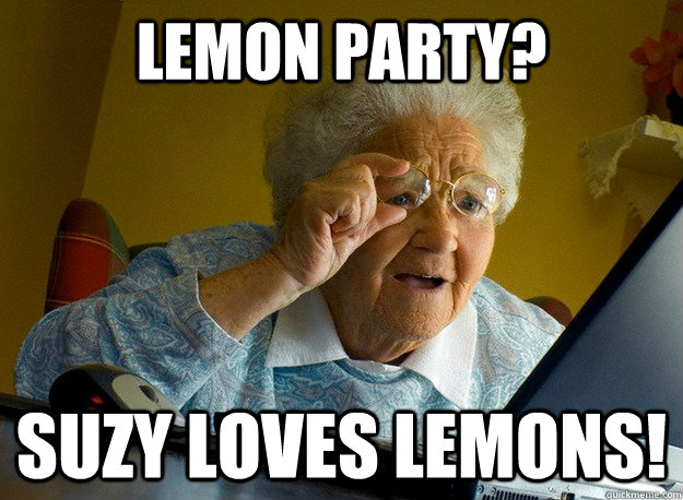 Lemon party? Suzy loves lemons!