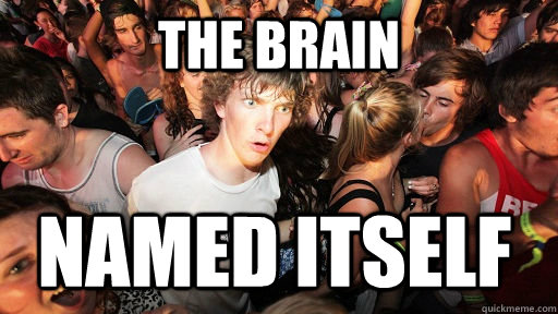 The brain named itself - The brain named itself  Sudden Clarity Clarence