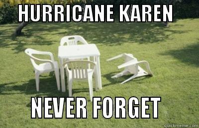 Hurricane Karen -     HURRICANE KAREN            NEVER FORGET       Misc