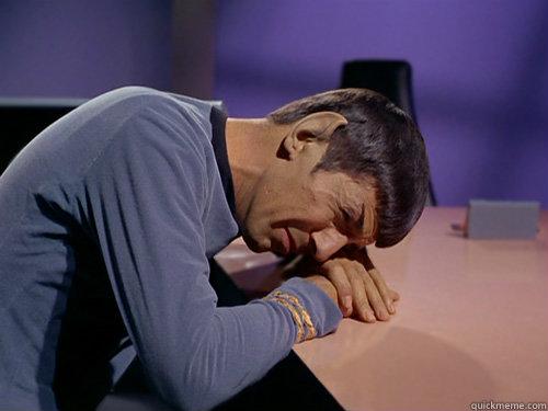 Image result for sad spock