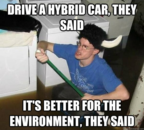 Drive A Hybrid Car They Said It S Better For The Environment