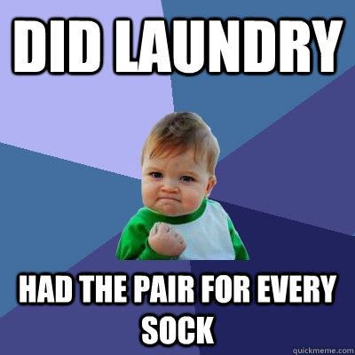 Did laundry Had the pair for every sock - Did laundry Had the pair for every sock  Success Kid