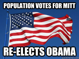 population votes for mitt re-elects obama