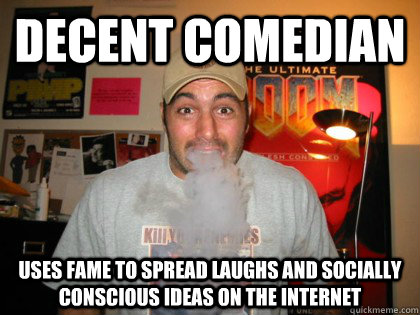 Decent comedian Uses fame to spread laughs and socially conscious ideas on the internet