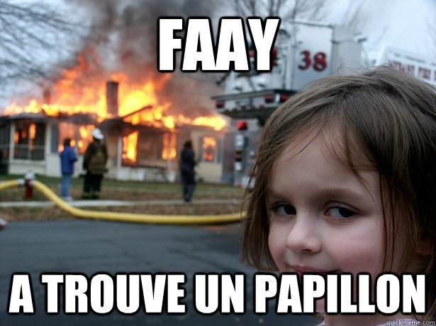 Faay a trouve un papillon - Faay a trouve un papillon  Disaster Girl