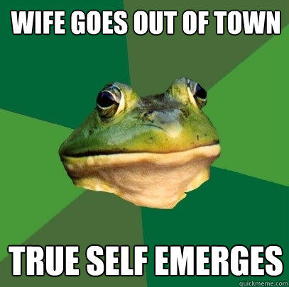 Wife goes out of town true self emerges - Wife goes out of town true self emerges  Foul Bachelor Frog