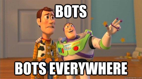 Bots bots everywhere  lambdas everywhere