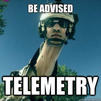 Be advised Telemetry