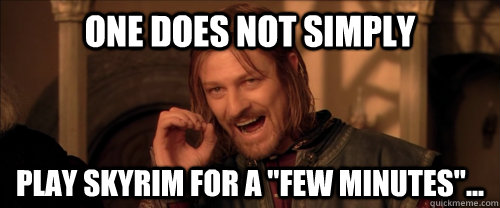 One does not simply play skyrim for a
