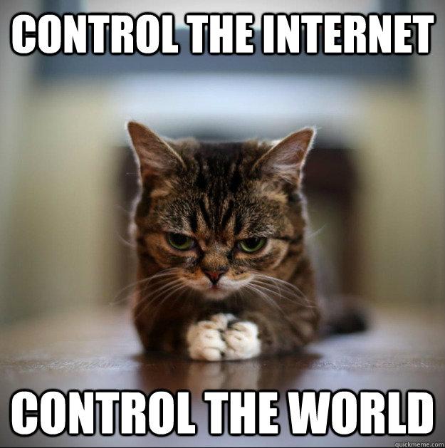 control the internet control the world - control the internet control the world  World Domination Kitty