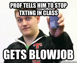 Blowjob in class