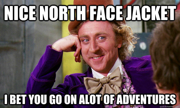 NICE NORTH FACE JACKET I bet you go on alot of adventures