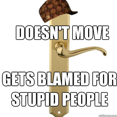 Doesn't move Gets blamed for stupid people