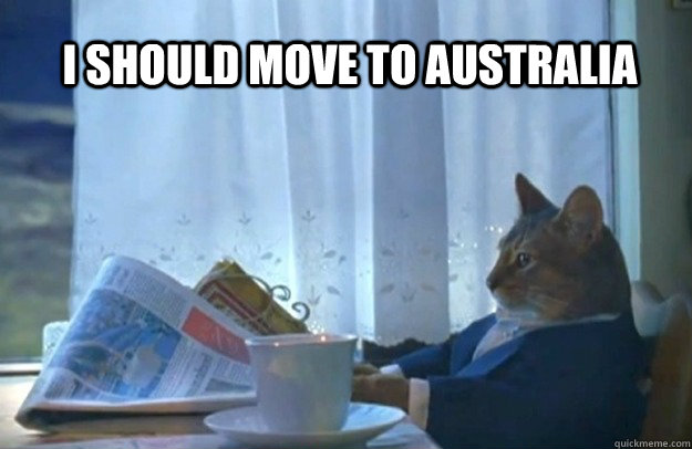 I should move to Australia - I should move to Australia  Sophisticated Cat