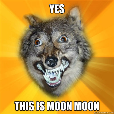 Yes This is Moon Moon  Retarded Wolf