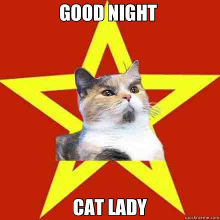 GOOD NIGHT  CAT LADY - GOOD NIGHT  CAT LADY  Lenin Cat