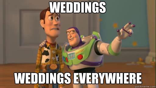 weddings weddings everywhere - weddings weddings everywhere  Everywhere