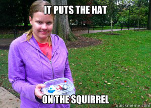 It puts the hat On the squirrel - It puts the hat On the squirrel  Misc