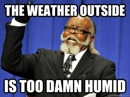 The Weather outside is too damn humid