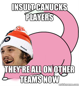 Insult Canucks players They're all on other teams now