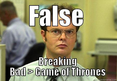 Dwight Likes Berking Berd - FALSE BREAKING BAD > GAME OF THRONES Dwight