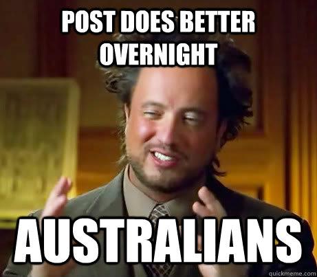 post does better overnight australians