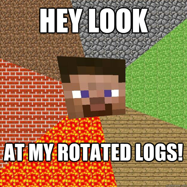how to look for minecraft logs