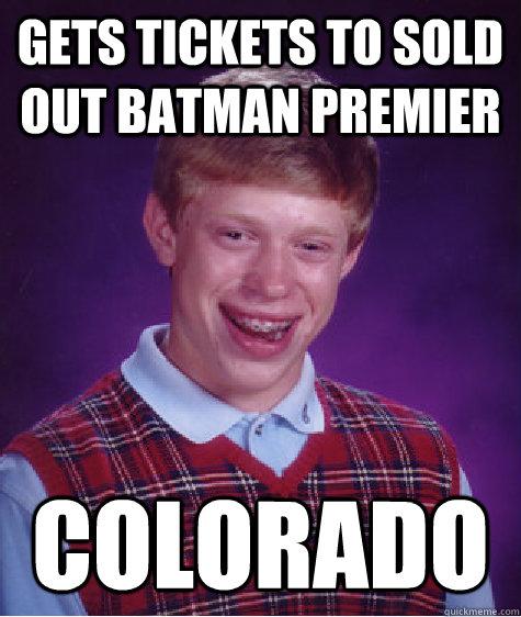 Batman Premiere Shooting In Colorado: Gets Tickets To Sold Out Batman Premier Colorado