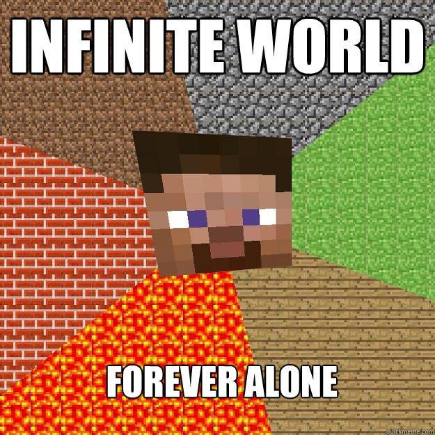 Infinite World Forever Alone - Infinite World Forever Alone  Minecraft
