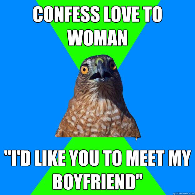 Confess love to woman
