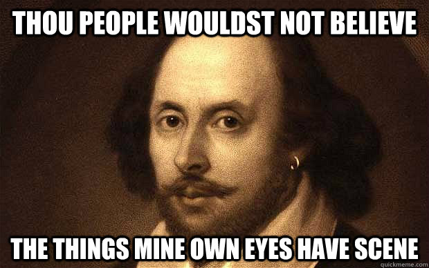 Bad Pun Shakespeare memes | quickmeme Raccoon Eyes Makeup