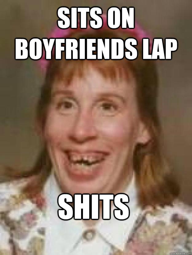 Sits on boyfriends lap SHITS