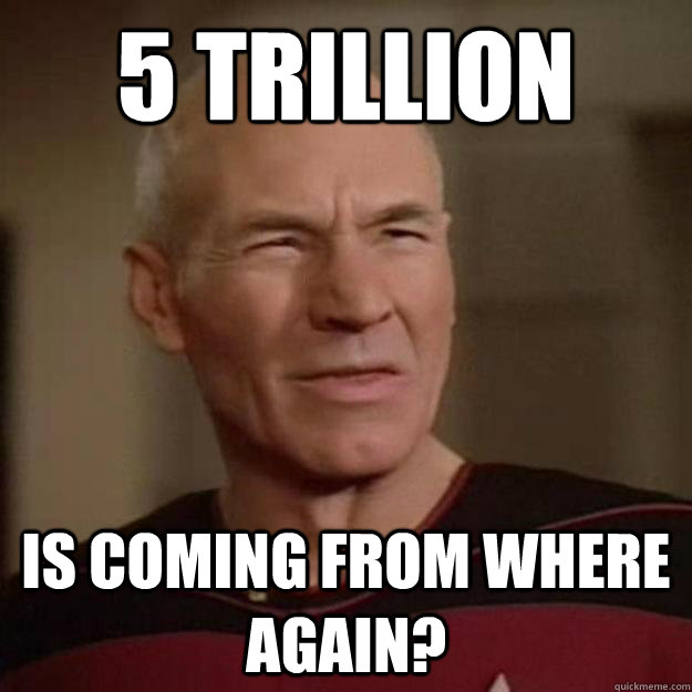 5 trillion Is coming from where again?
