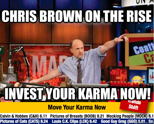 Chris Brown on the rise  invest your karma now! - Chris Brown on the rise  invest your karma now!  Mad Karma with Jim Cramer