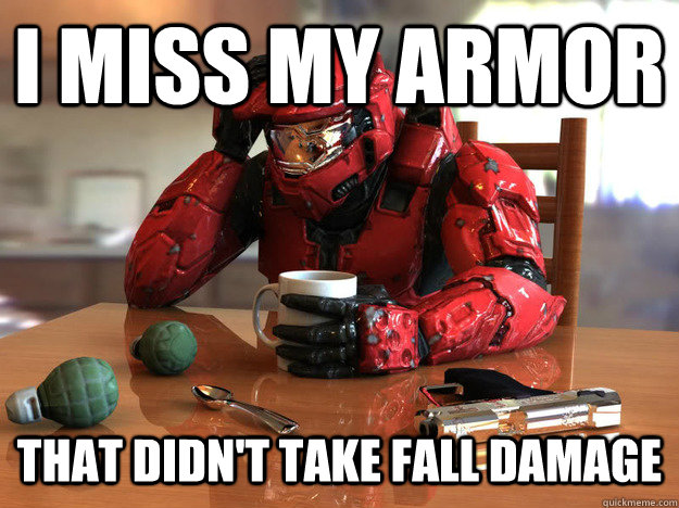 I miss my armor  that didn't take fall damage - I miss my armor  that didn't take fall damage  First World Halo Problems