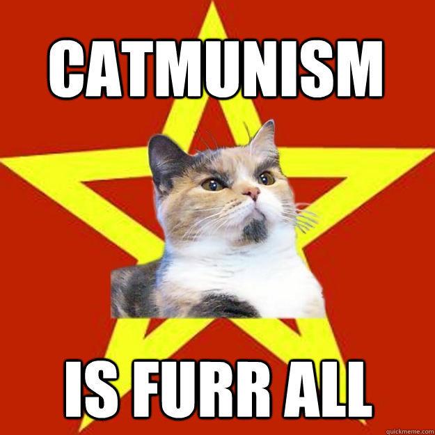 Catmunism is furr all  Lenin Cat