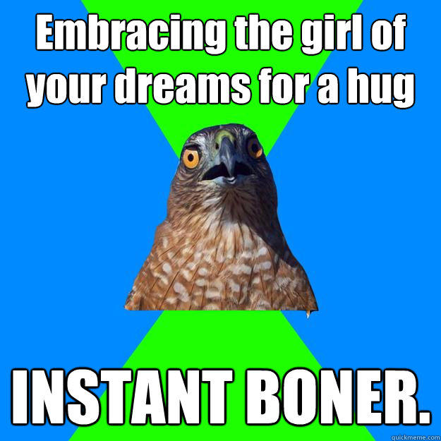 Embracing the girl of your dreams for a hug INSTANT BONER. - Embracing the girl of your dreams for a hug INSTANT BONER.  Hawkward