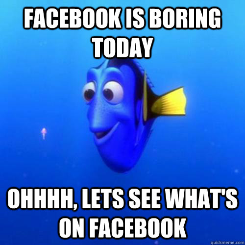 Facebook is boring today Ohhhh, lets see what's on facebook - Facebook is boring today Ohhhh, lets see what's on facebook  dory