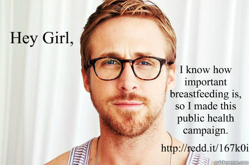 Hey Girl, I know how important breastfeeding is, so I made this public health campaign.  http://redd.it/167k0i