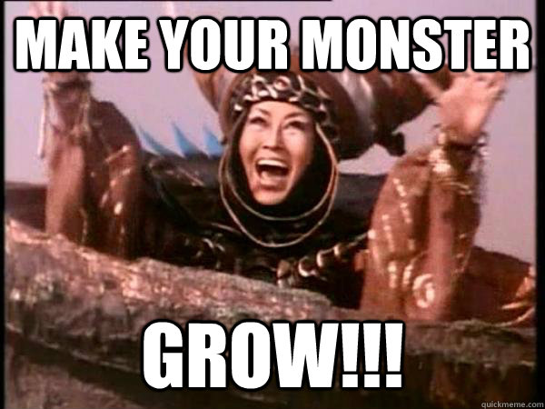 Make your monster grow!!! - Make your monster grow!!!  Excited Rita
