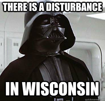 There is a disturbance In wisconsin