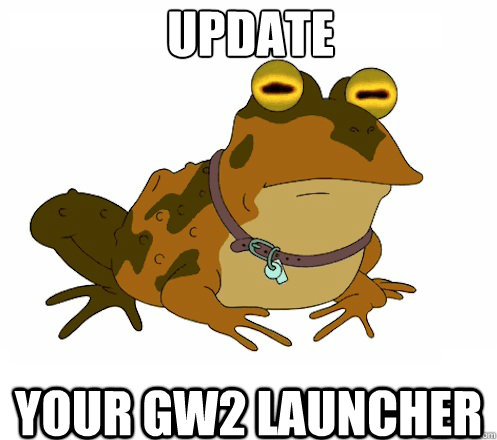 Update your Gw2 launcher  Hypnotoad