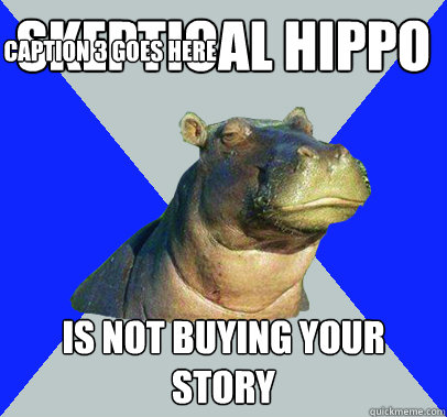 Skeptical Hippo Is not buying your story Caption 3 goes here - Skeptical Hippo Is not buying your story Caption 3 goes here  Skeptical Hippo