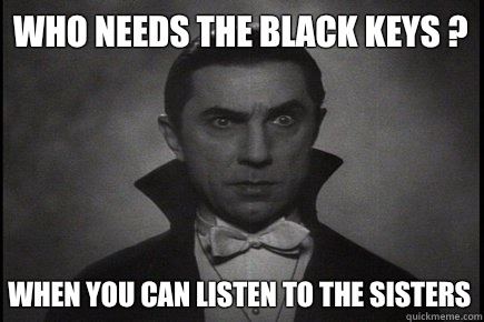 WHO NEEDS THE BLACK KEYS ? WHEN YOU CAN LISTEN TO THE SISTERS