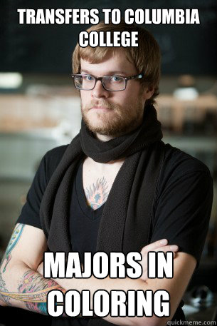 Transfers to columbia college majors in coloring  Hipster Barista